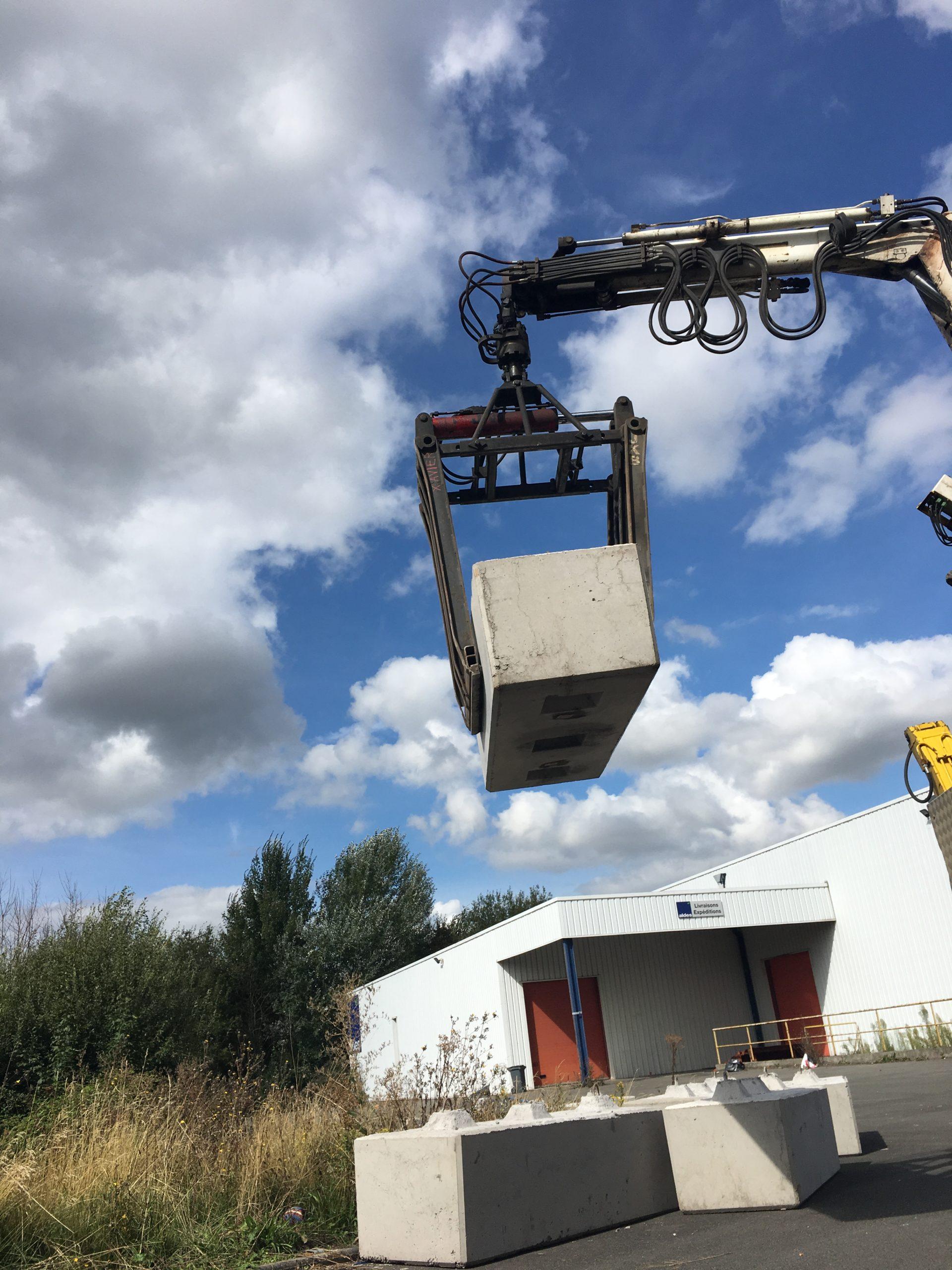 Déplacement de blocs béton Douai